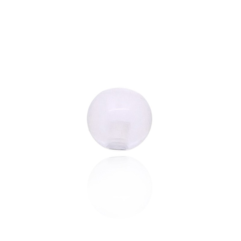 Boule piercing plastique transparent mauve