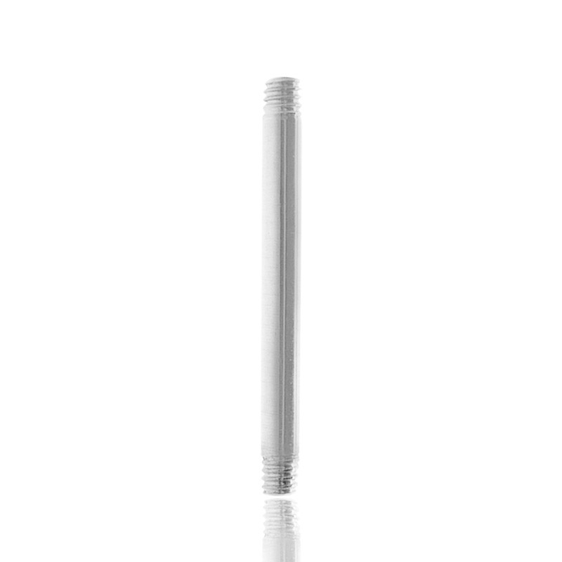 Piercing barre droite or blanc (1,2mm)