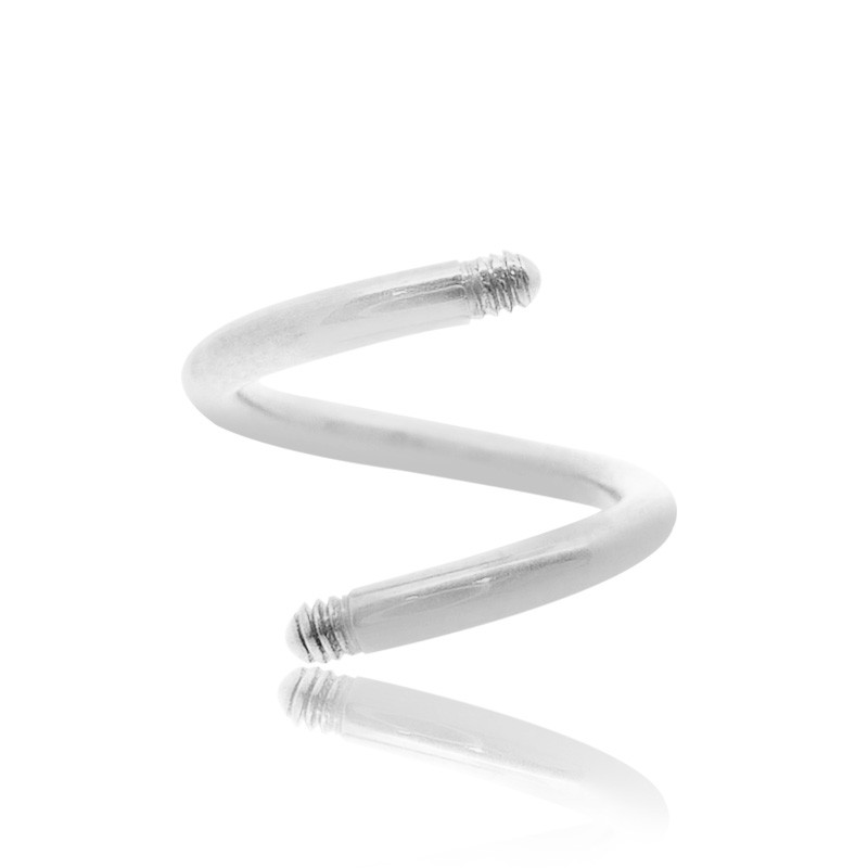 piercing spirale or blanc 1,6mm