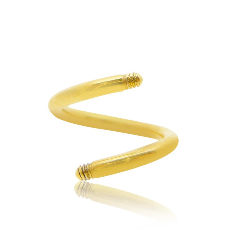 Piercing spirale or jaune (1,2mm)