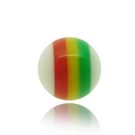 Boule de piercing vissable coloris rasta
