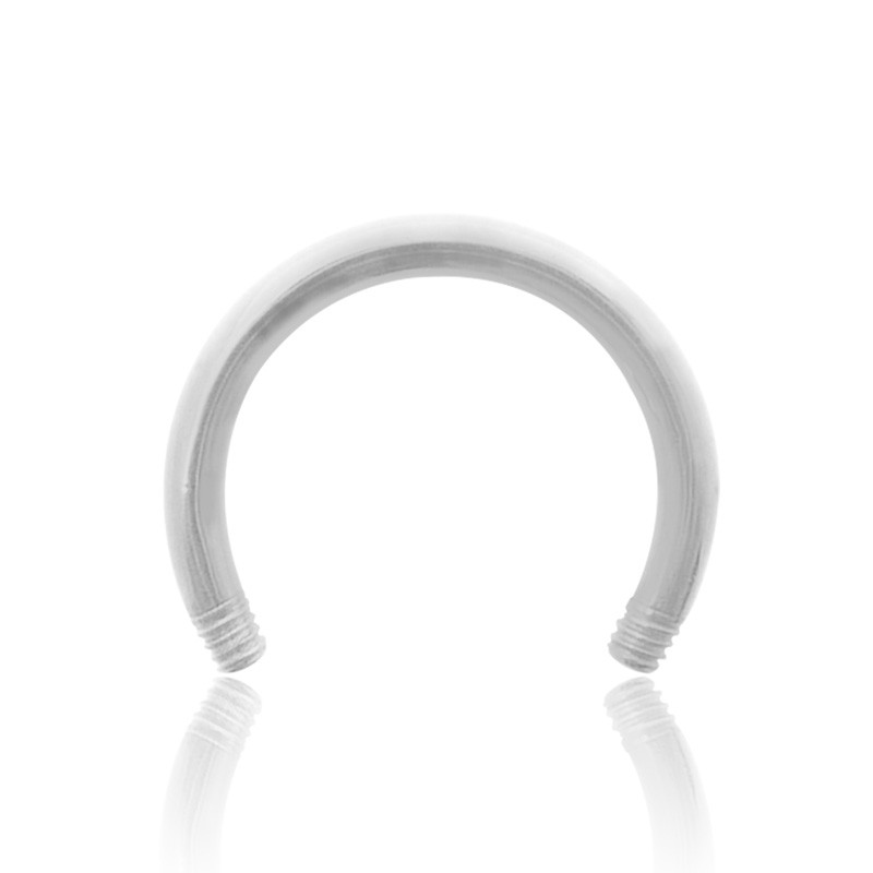 Piercing fer à cheval or blanc (1,2mm)