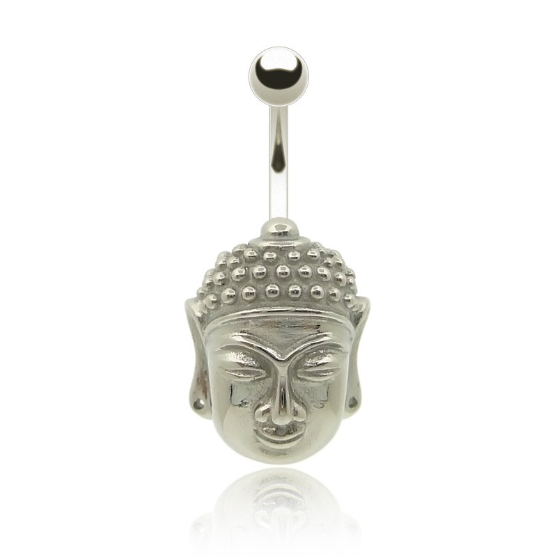 piercing nombril buddha argent avec barre et boule acier chirurgical. Black Bedroom Furniture Sets. Home Design Ideas