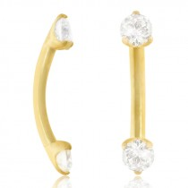 Piercing arcade en or jaune diamant