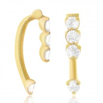 Piercing arcade or jaune avec quatre brillants