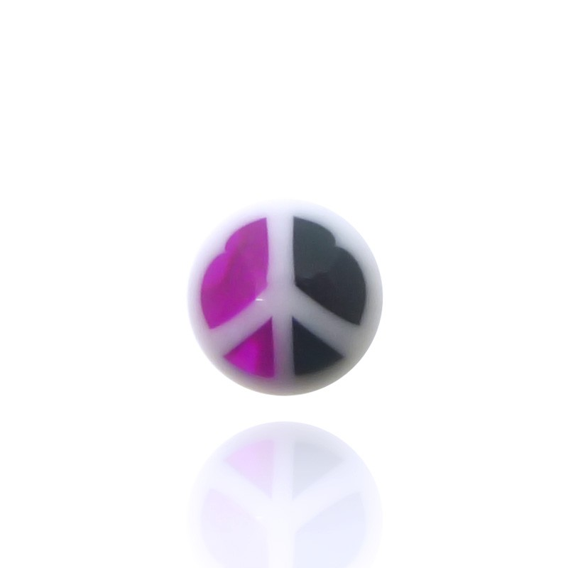 Piercing boule peace and love