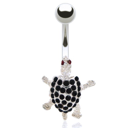 Piercing nombril tortue