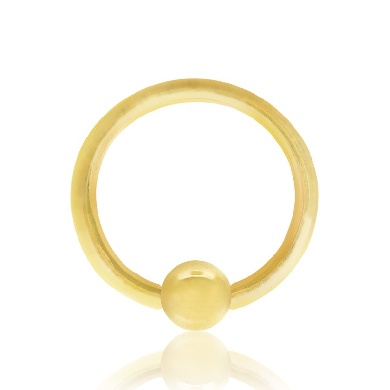 Piercing anneau boule clipable or jaune (1,6mm)