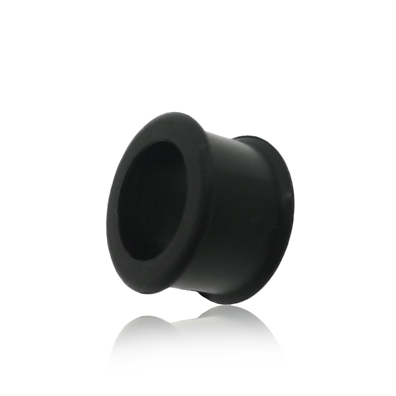 Piercing tunnel silicone noir