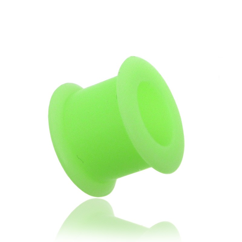 Piercing tunnel silicone vert fluo